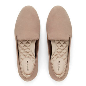 Birdies The Starling Latte Suede Flats NWOT Cushioned Slip-On Loafers Size 9